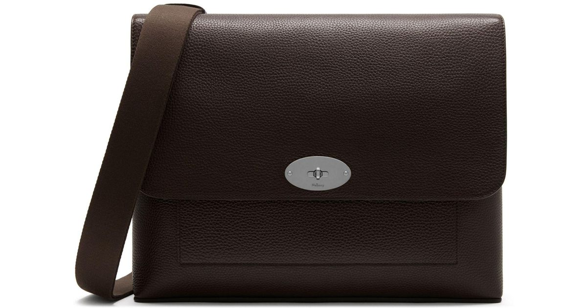 3aece4ded1 Mulberry East West Antony In Chocolate Natural Grain Leather in Brown for  Men - Lyst