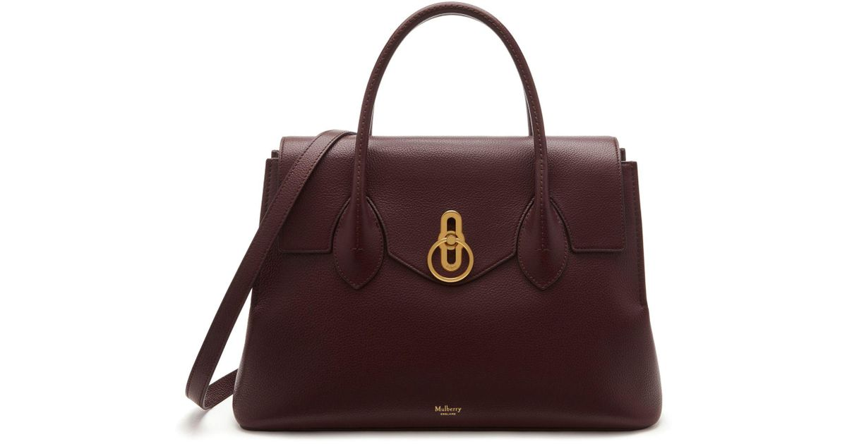 Lyst - Mulberry Seaton In Oxblood Small Classic Grain 7dbb7cf7eeb63