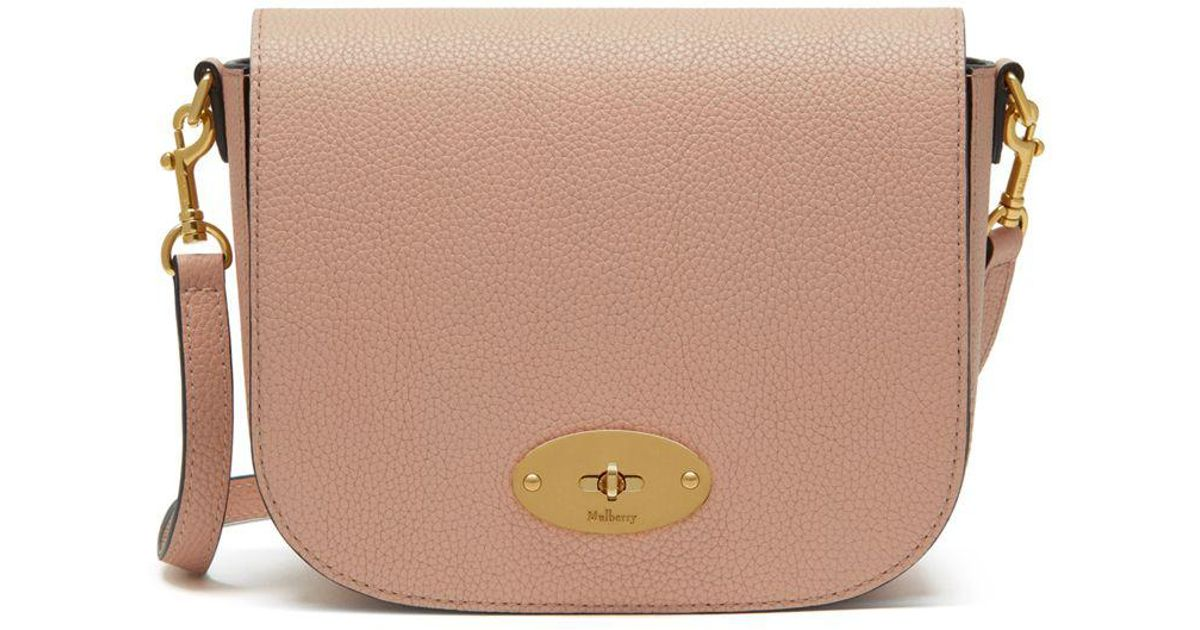 61b056d6ed Mulberry Small Darley Satchel In Rosewater Small Classic Grain - Lyst
