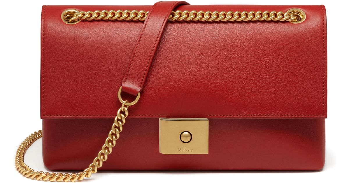 Snap Mulberry Cheyne Leather Bag in Red rust Lyst photos on Pinterest 609b1891dc896