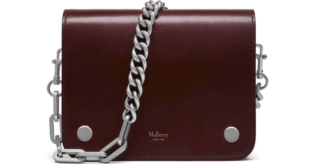 Lyst - Mulberry Clifton Leather Bag - Burgundy c8deff871656e