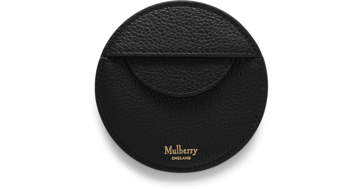 baby newest collection so cheap Mulberry Black Round Coin Pouch