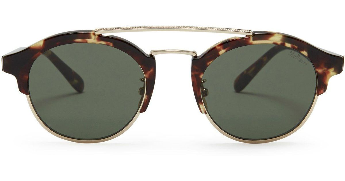 2a4fece8729f Mulberry Enyd Sunglasses In Tortora Acetate And Metal in Green - Lyst