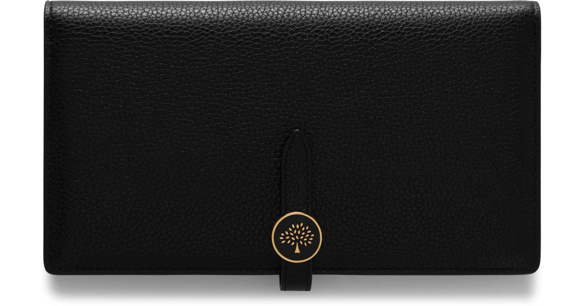 c8956b287c95 Lyst - Mulberry Tree Long Wallet In Black Cross Grain Leather in Black