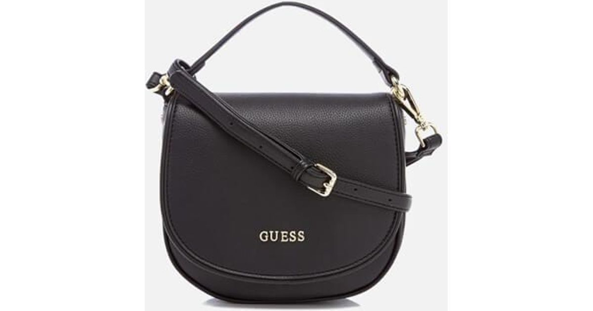 Lyst - Guess Sun Small Shoulder Bag in Black