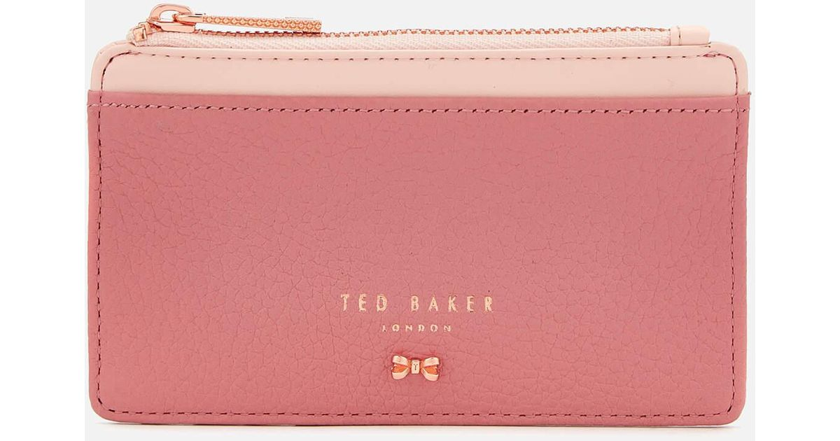1496d38e44c81 Lyst - Ted Baker Alica Zipped Card Holder in Pink