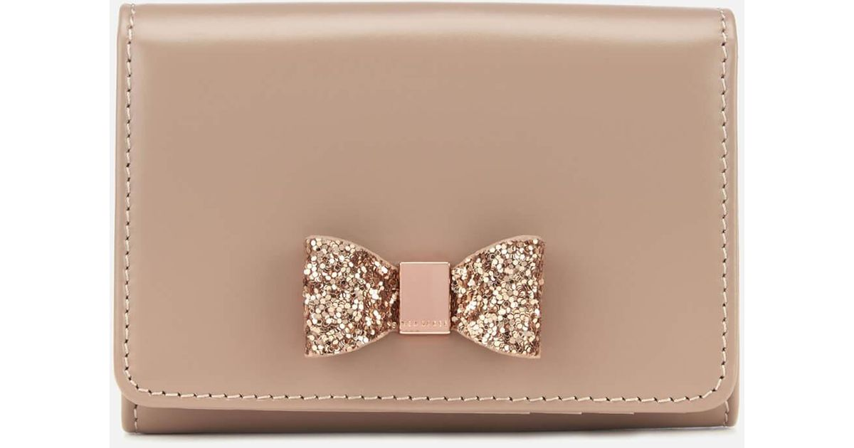 5ed71710218056 Ted Baker Anki Crystal Bow Mini Purse - Lyst