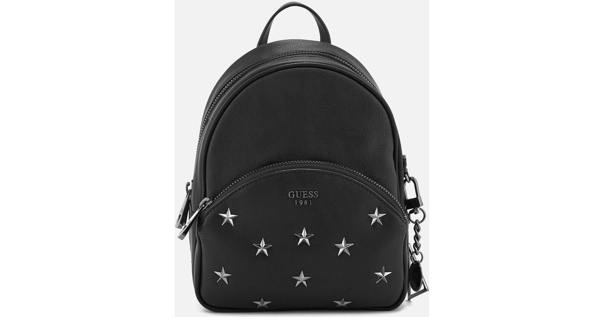 bfb21ddddf7a Lyst - Guess Bradyn Small Backpack in Black