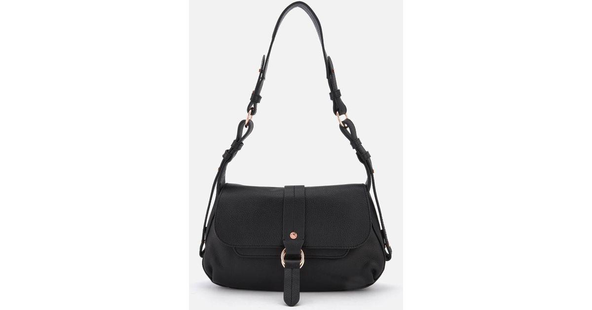 d6a1f0a9e903 Lyst - Radley Trinity Square Medium Flapover Shoulder Bag in Black
