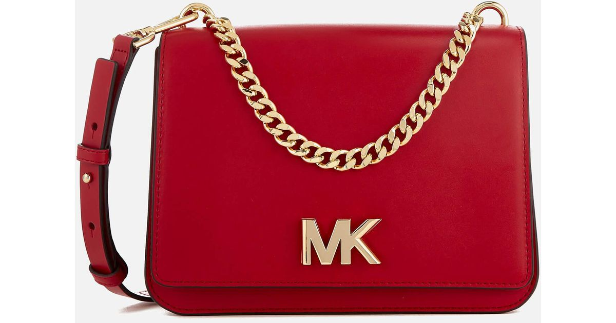 Michael Kors Mott Large Chain Swag Shoulder (Soft Pink) Shoulder Handbags UZMCuWb