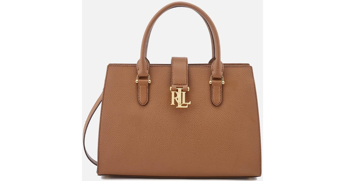 9fd3246f7dc9 Lauren by Ralph Lauren Carrington Brigitte Ii Satchel in Brown - Lyst
