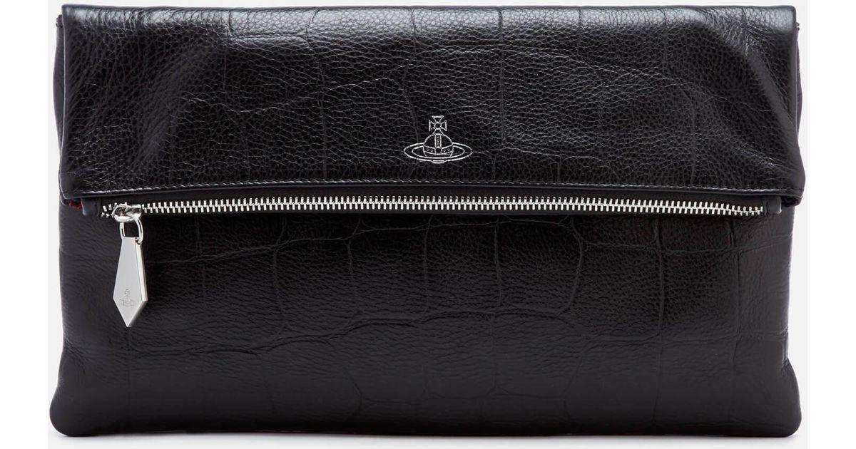 f4552dcd7e Vivienne Westwood Canterbury Zip Clutch Bag in Black - Lyst