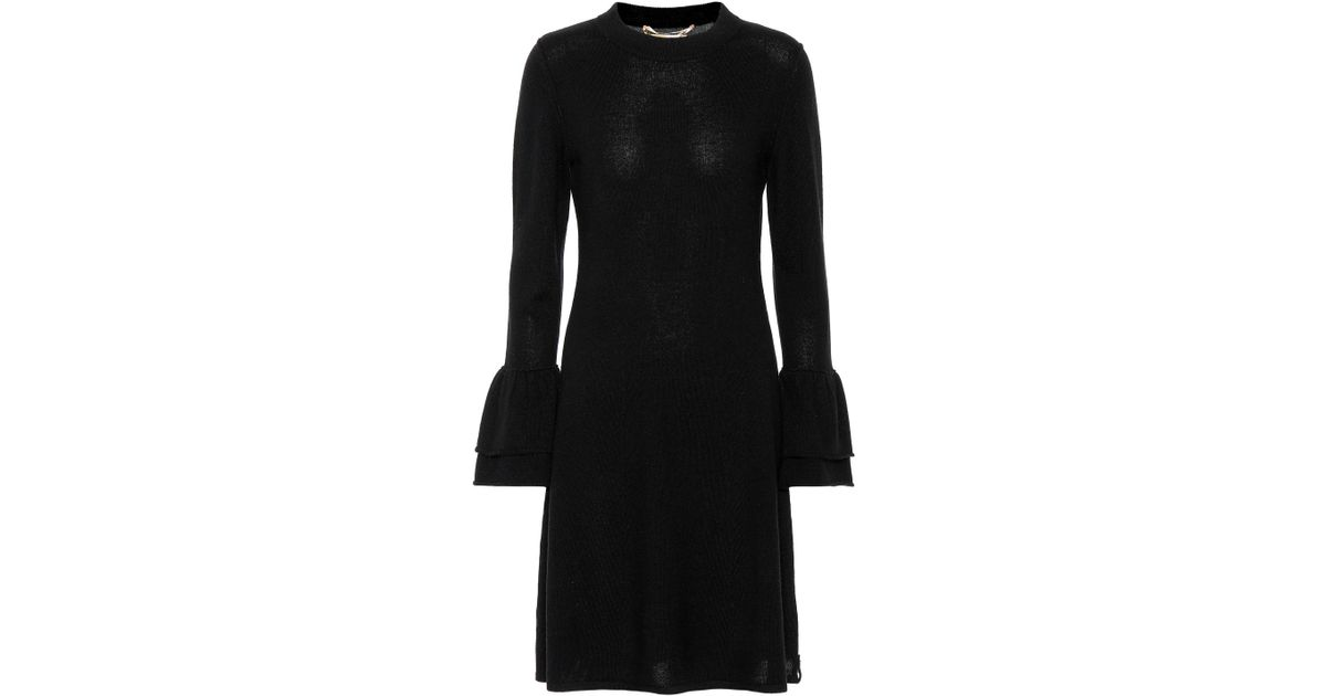 Lyst - 81hours Hada Wool And Cashmere Dress in Black 428149cc2