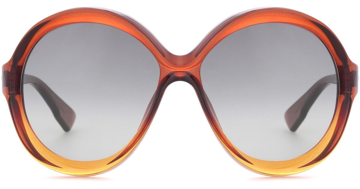 acadeab9cd Lyst - Dior Diorbianca Oversized Sunglasses in Brown