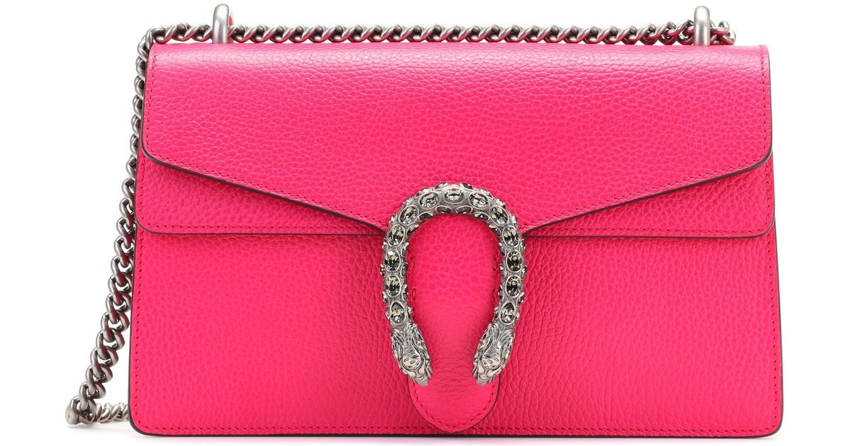 3f650556d26a Lyst - Gucci Dionysus Small Leather Shoulder Bag in Pink