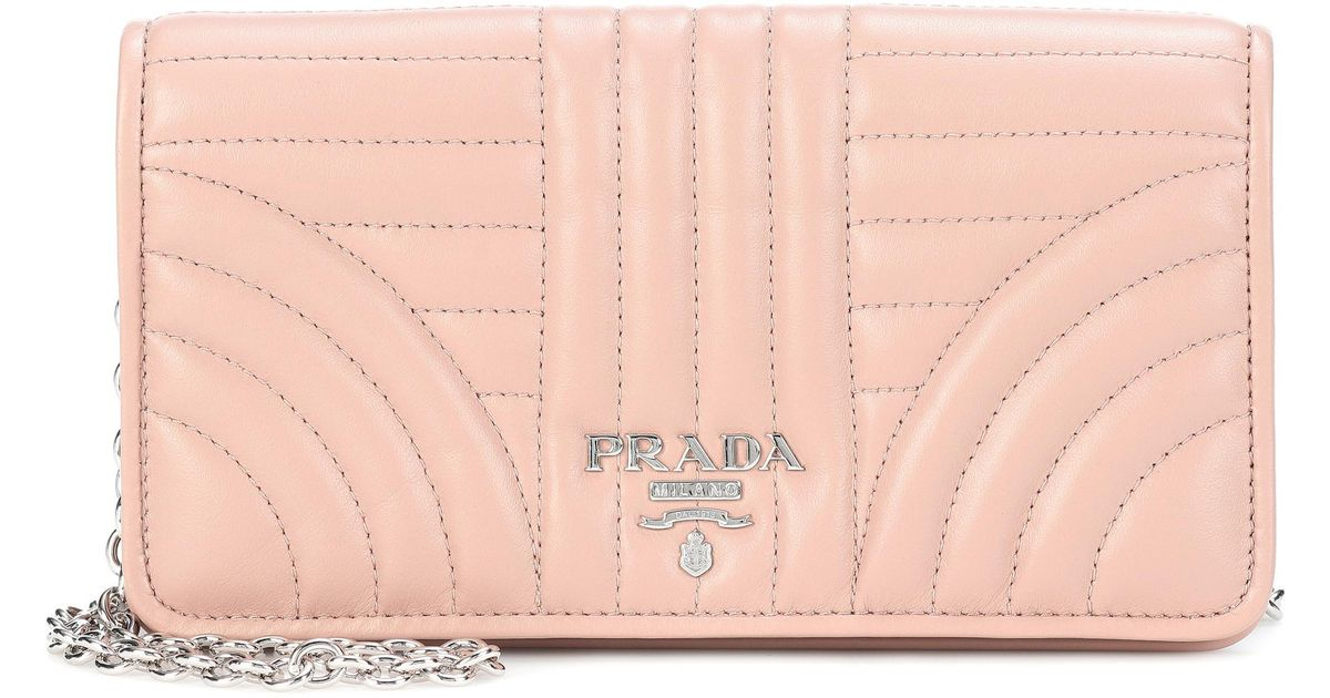 549ea2596ada Prada Matelassé Leather Shoulder Bag in Pink - Lyst