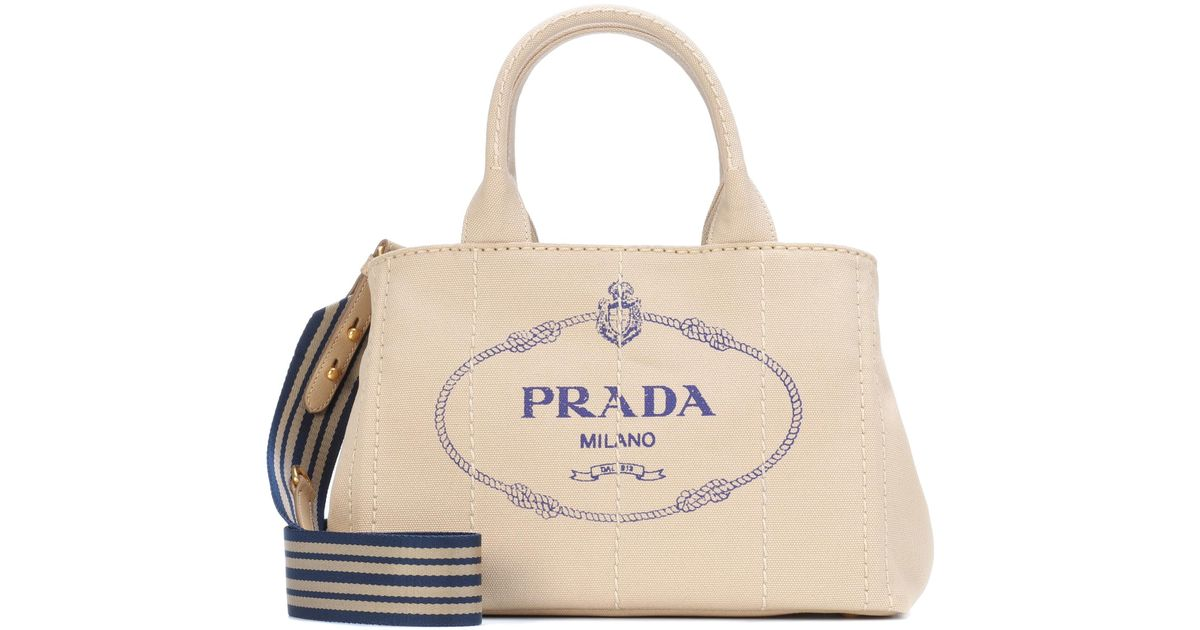 ... coupon code for lyst prada printed canvas tote in natural ea47b b1a94 44c090dc79cfb