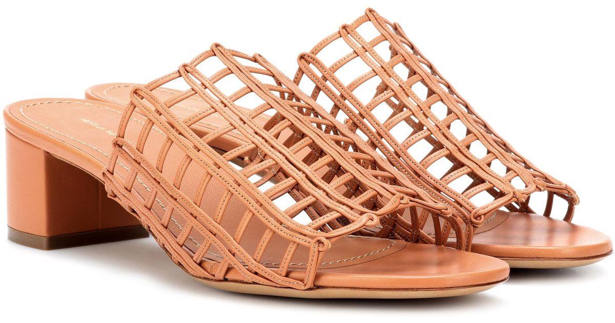Grid leather sandals Mansur Gavriel 4rvOqwS