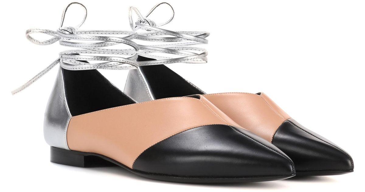 Sale Sneakernews Cheap Great Deals Pierre Hardy Cut leather ballerinas SRIBZe9