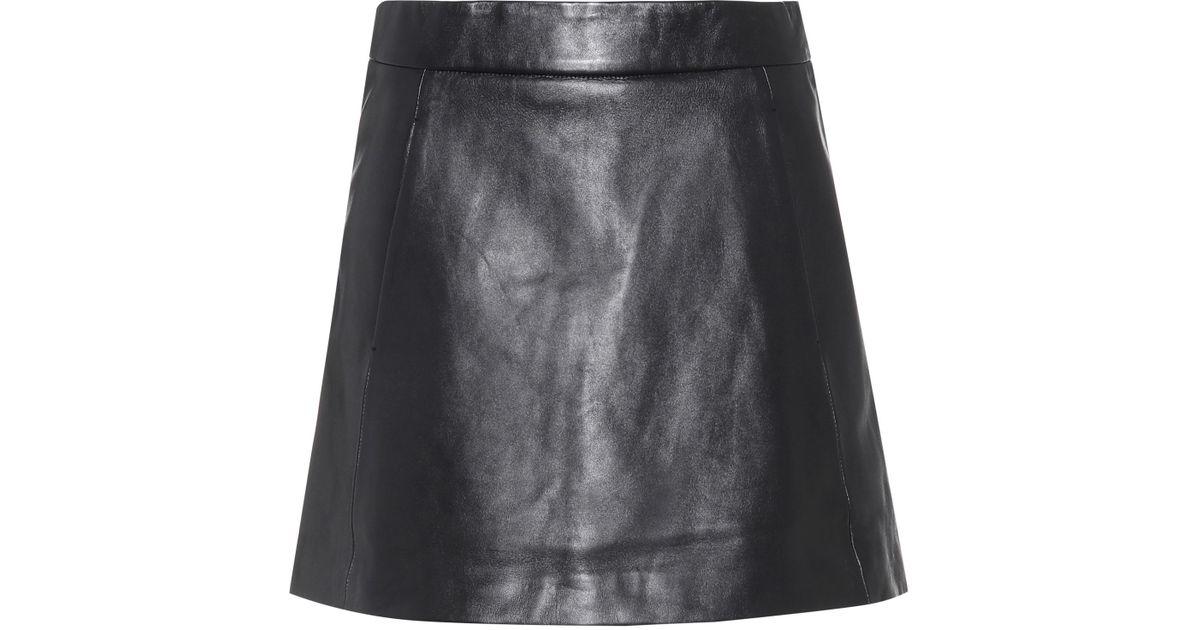4947e514 Ganni Passion Leather Mini Skirt in Black - Lyst