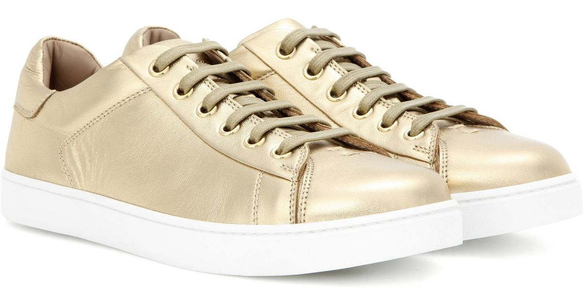 Huge Surprise For Sale Lowest Price Online Gianvito Rossi Low Top metallic leather sneakers Wide Range Of Clearance Exclusive 08Equr4Q