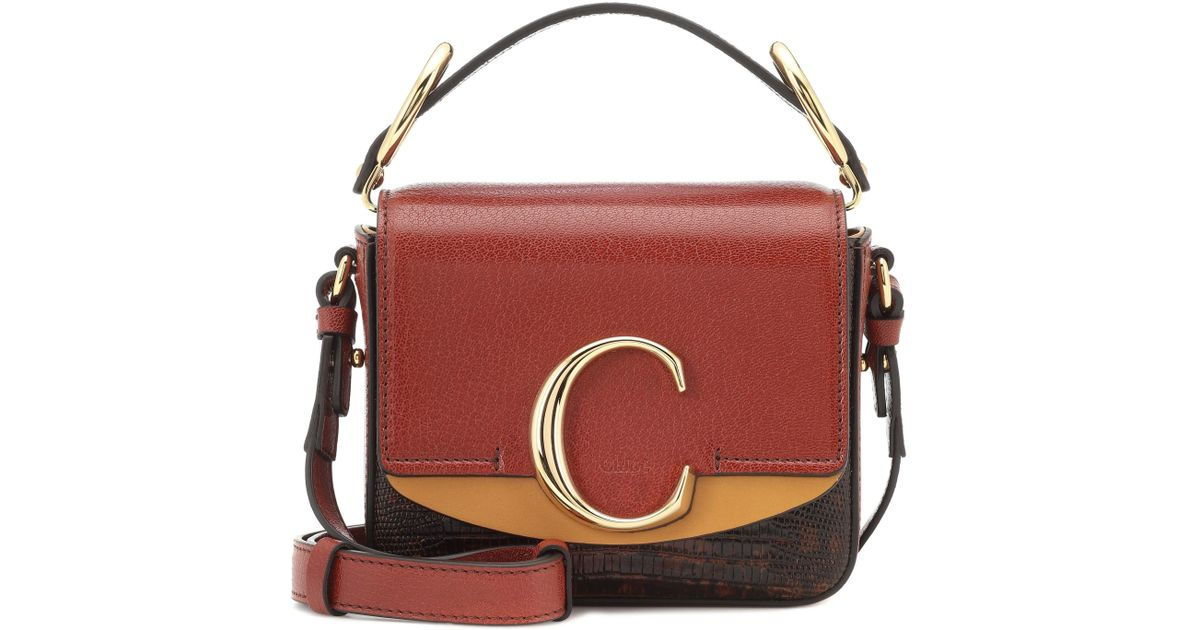 ae1000eeb6 Chloé - Brown C Mini Leather Shoulder Bag - Lyst