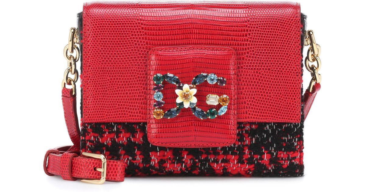 703a017358 Dolce   Gabbana Dg Millennials Mini Shoulder Bag in Red - Lyst