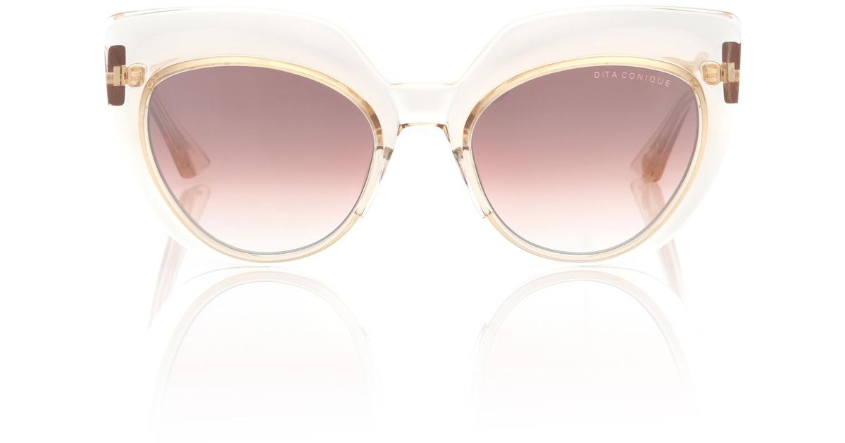 bbe9093ae3e Lyst - Dita Eyewear Conique Cat-eye Sunglasses in Pink