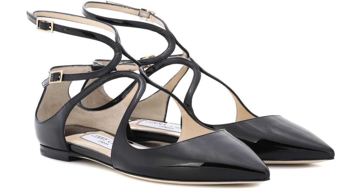 Jimmy choo Lancer patent leather ballerinas fwfMJ