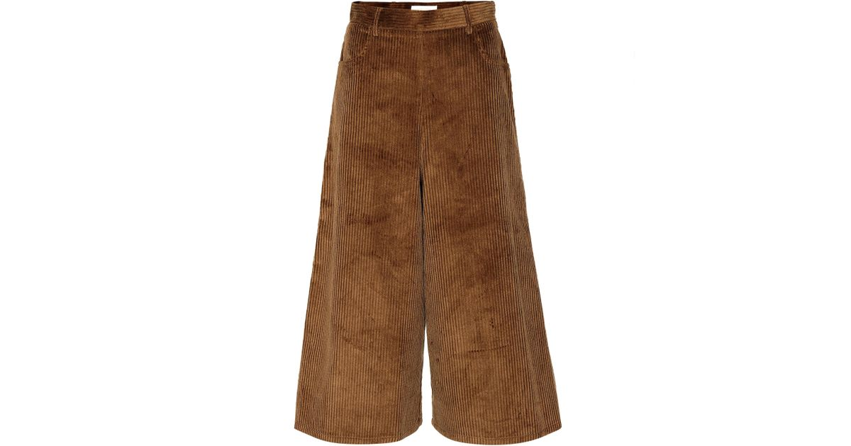 e99cffe866 See By Chloé - Brown Corduroy Culottes - Lyst