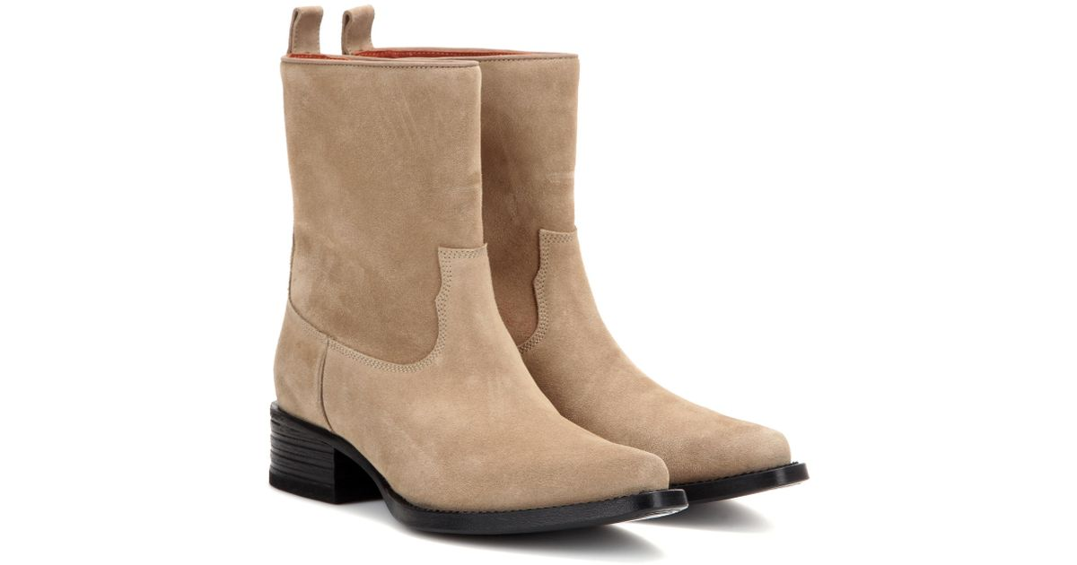 127e75a05f0 Acne - Natural Galane Suede Ankle Boots - Lyst