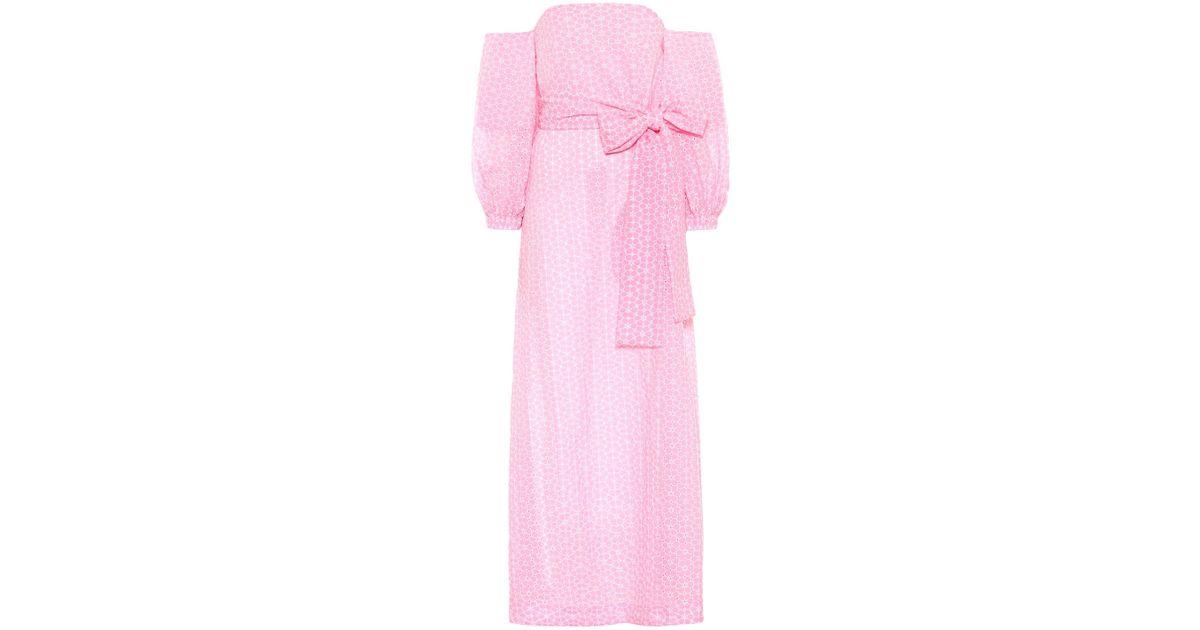 cdfb3880ef Lyst - Lisa Marie Fernandez Rosie Eyelet Cotton Dress in Pink
