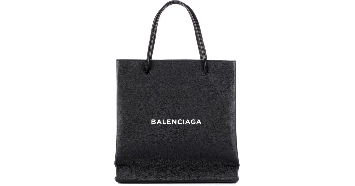 Famous Lyst - Balenciaga Shopping Paper Small Leather Tote in Black TS14 a492cf6715d5d