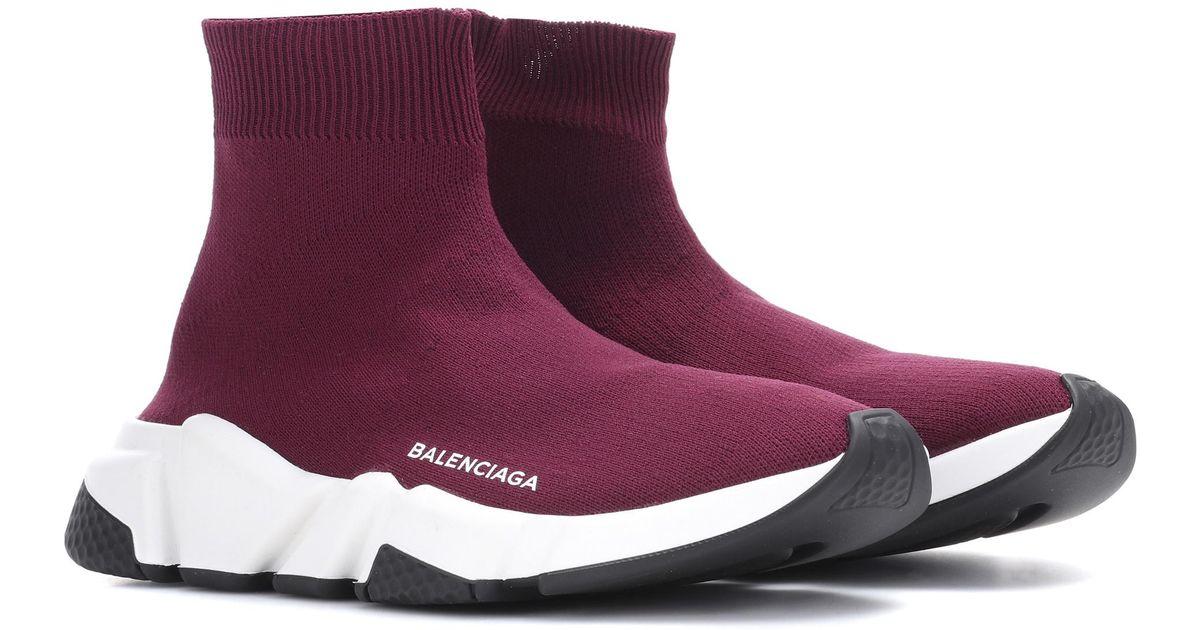 3e1fc0444c95 Lyst - Balenciaga Speed Trainer Sneakers in Purple