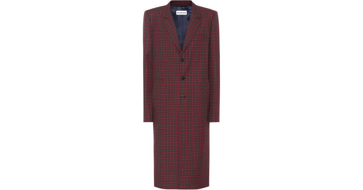 Check Check Coat Wool Wool Coat Balenciaga Balenciaga Coat Wool Check Check Balenciaga Wool Balenciaga Coat Check Wool EpOZqORw