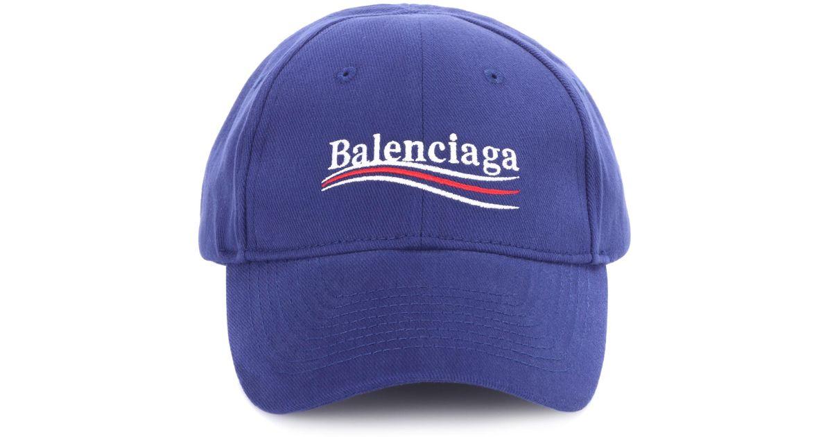 b5cd3e2a3b1 Balenciaga Logo-embroidered Baseball Cap in Blue - Save 30% - Lyst