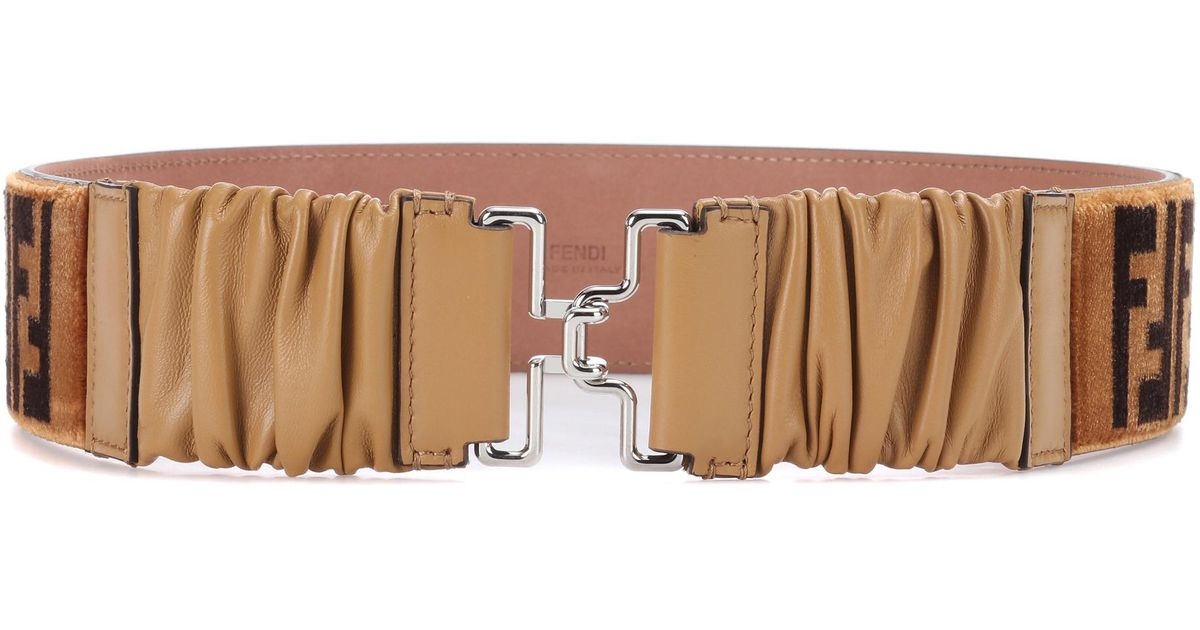 Printed velvet belt Fendi