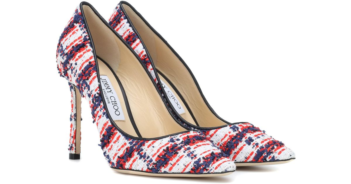 be50e730eb7e Lyst - Jimmy Choo Exclusive To Mytheresa – Romy 100 Tweed Pumps