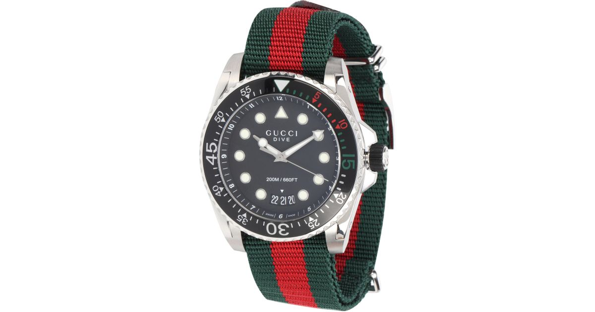 fe86e6f7b61 Lyst - Gucci Dive Xl Watch in Metallic