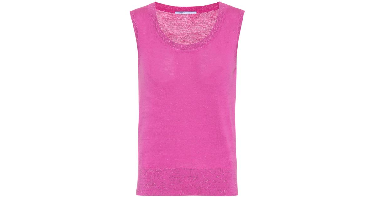 Cotton-blend sleeveless top Agnona Sale 2018 Unisex NI29iv