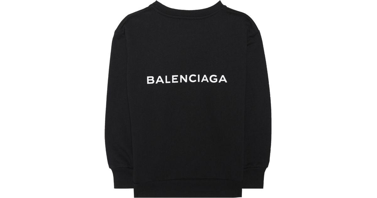 8285ecbe5ed2 Lyst - Balenciaga Kids  Printed Sweatshirt in Black