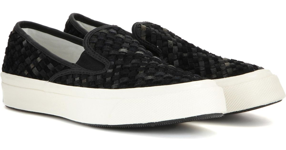 f276f95e262f Lyst - Converse Deck Star 67 Suede Slip-on Sneakers in Black