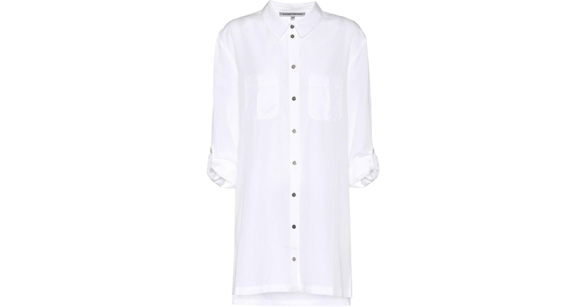 f078c53f185e3 Lyst - Heidi Klein Maine Over-sized Shirt Dress in White