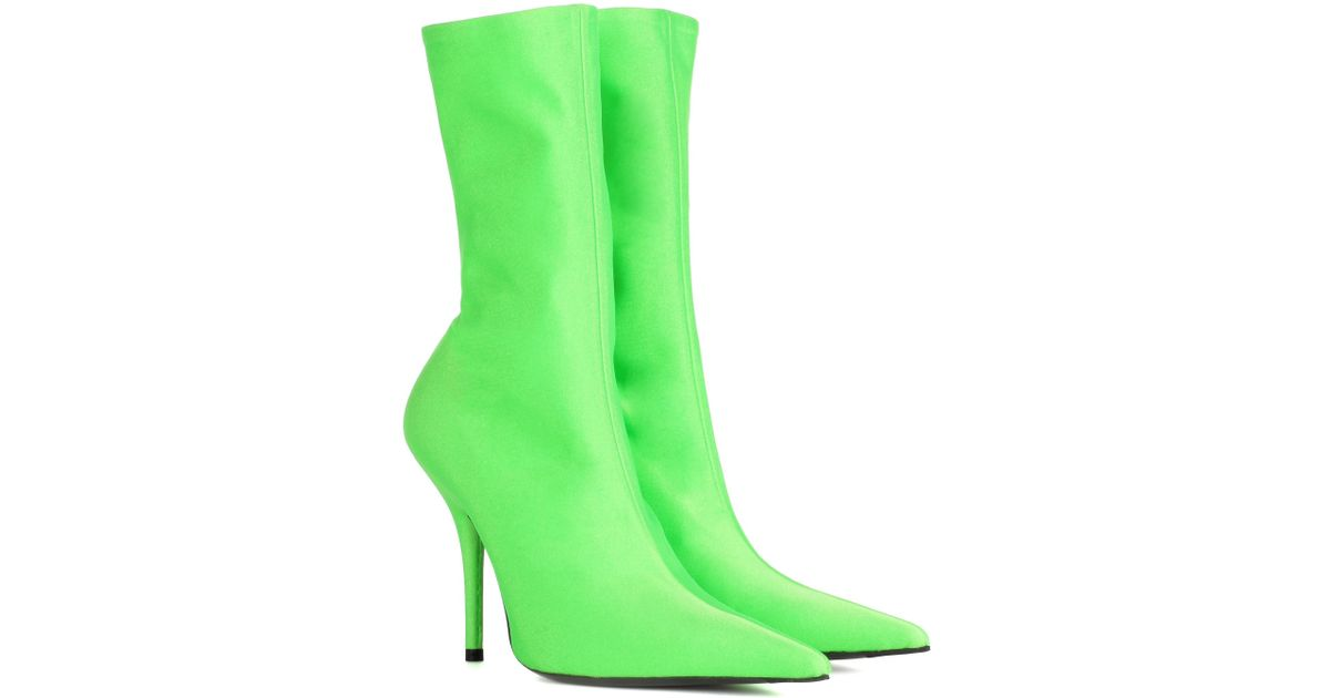 f1d3ab83c730 Lyst - Balenciaga Knife Ankle Boots in Green
