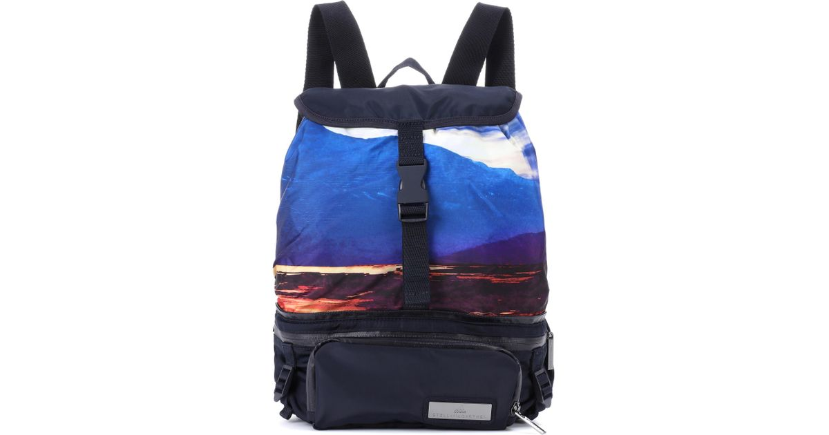 839146e545cf Lyst - adidas By Stella McCartney Convertible Backpack in Blue