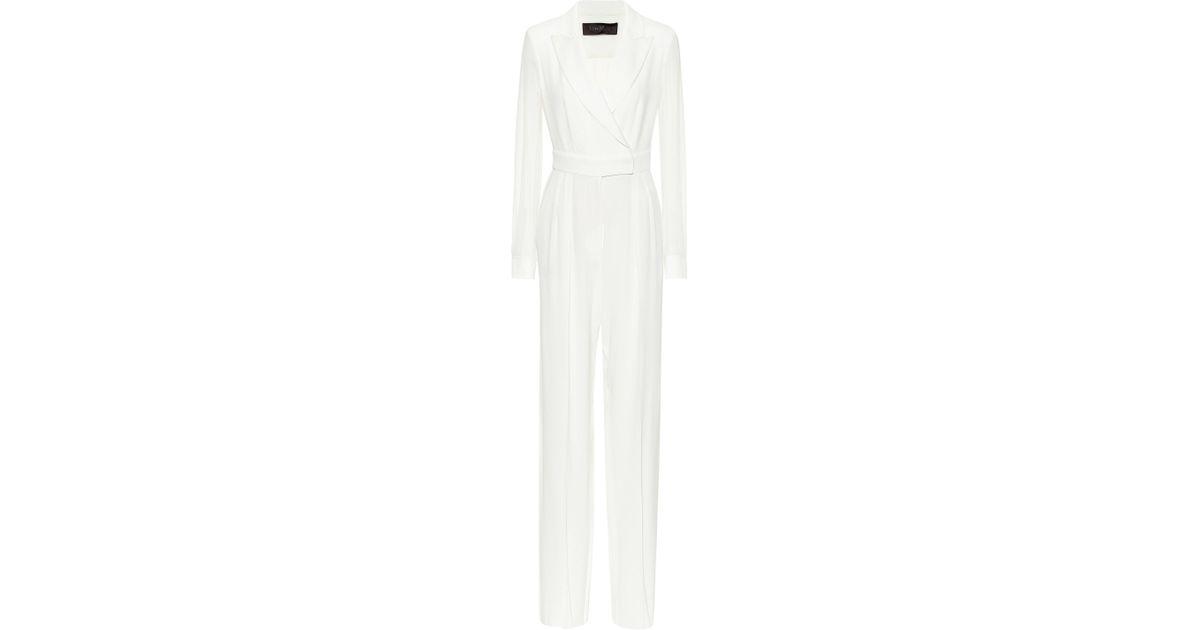 c30ffb828ea Lyst - Max Mara Dora Wrap Jumpsuit in White