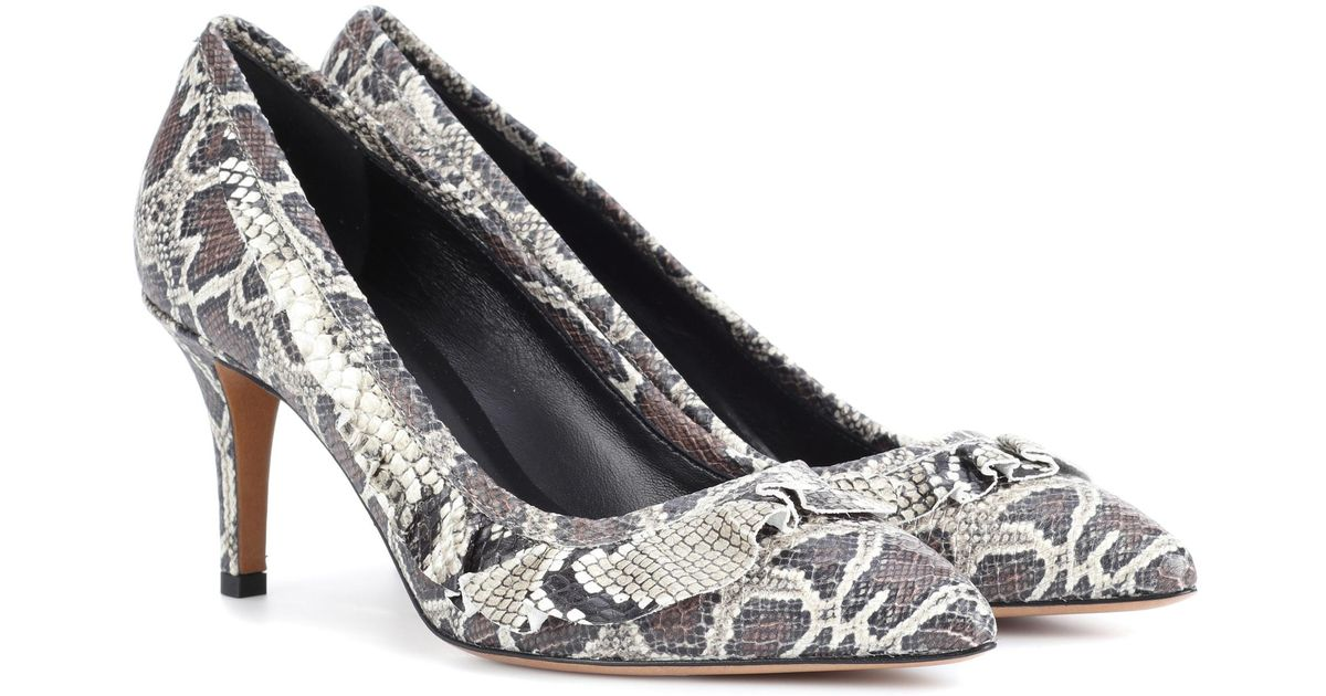 Isabel Marant Poween printed leather pumps Hx8RK