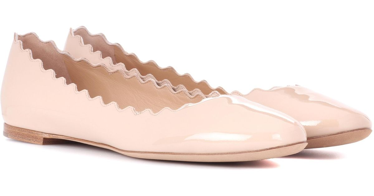 Ballerinas LAUREN patent leather beige Chloé S5U9G