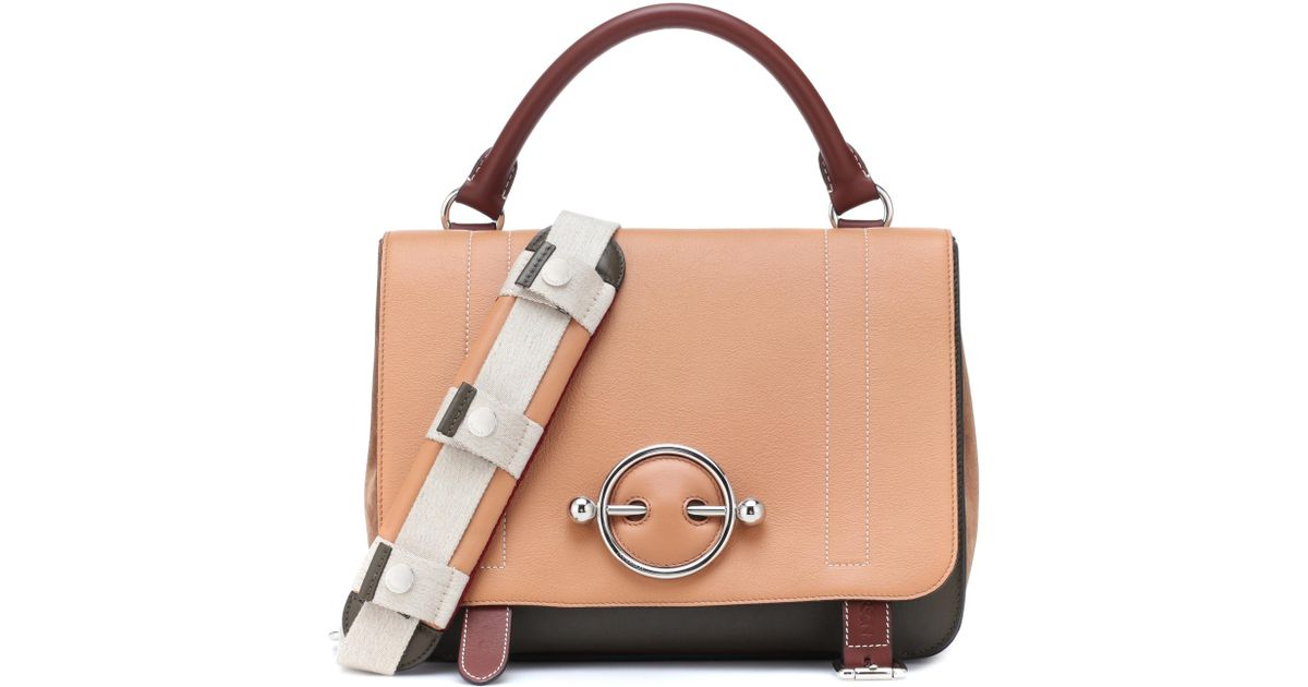 Lyst - JW Anderson Disc Satchel Leather Shoulder Bag in Natural ef36fcc5c1b20