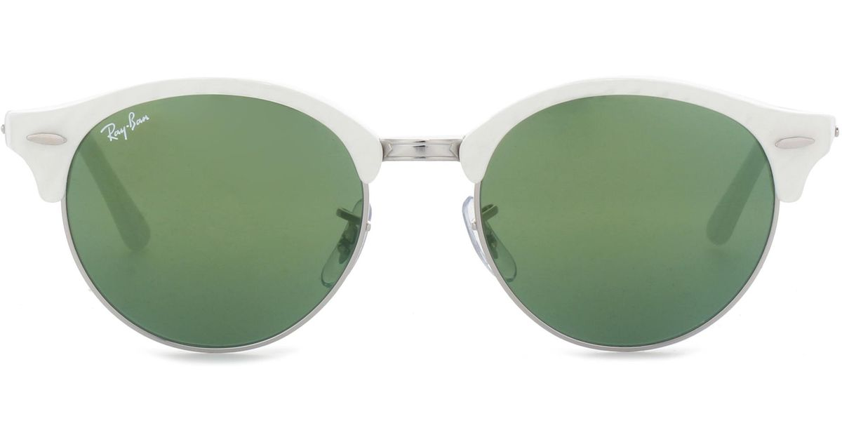 fd48e6763e4b5 Lyst - Ray-Ban Rb4246 Clubround Sunglasses in White